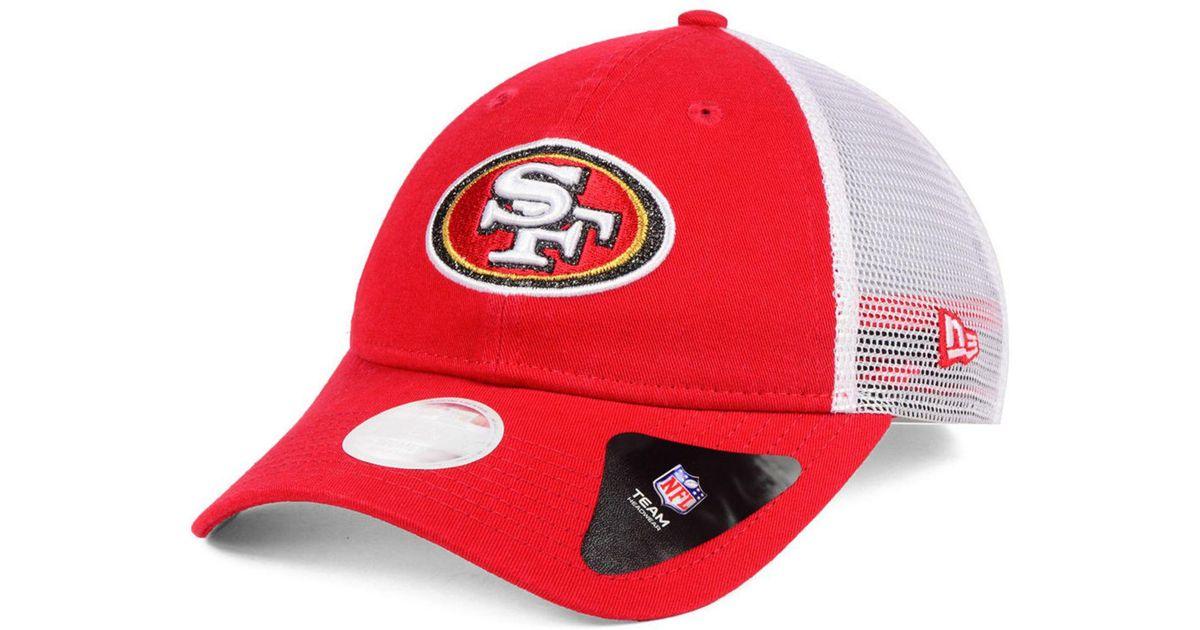 Lyst - KTZ San Francisco 49ers Trucker Shine 9twenty Cap in Red 45dd26505cd