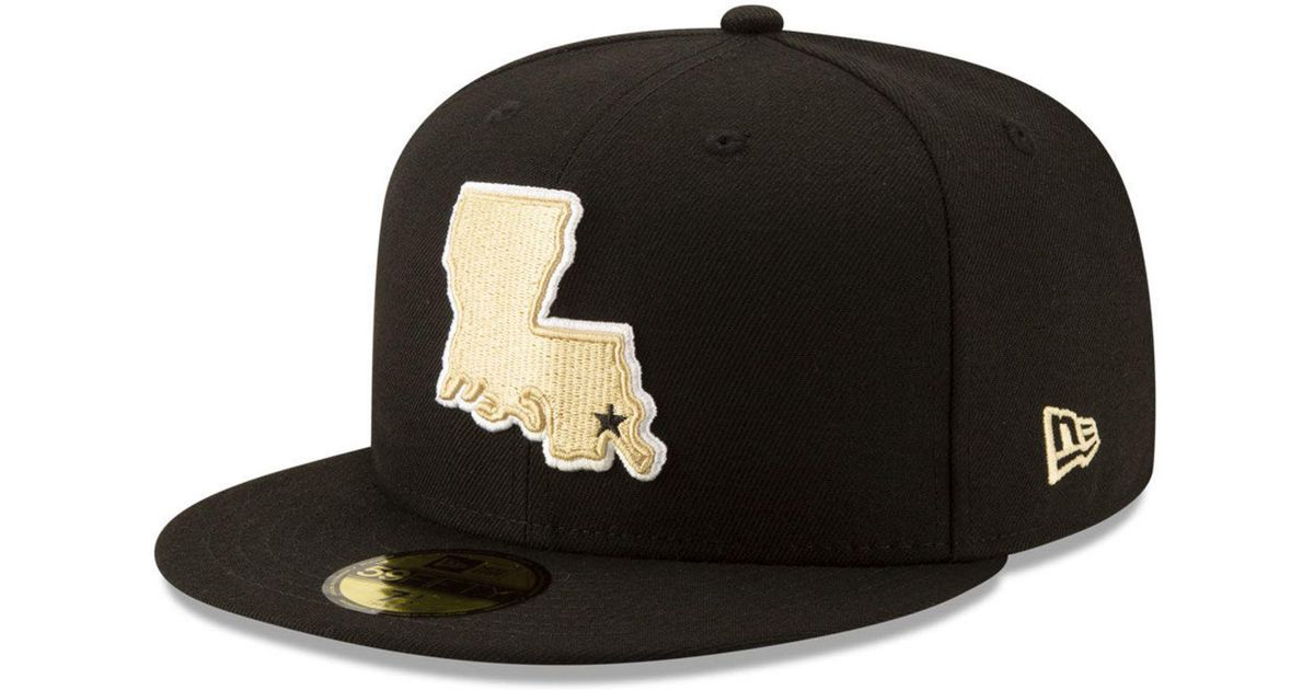c217f42bbc7 Lyst - KTZ New Orleans Saints Logo Elements Collection 59fifty Fitted Cap  in Black
