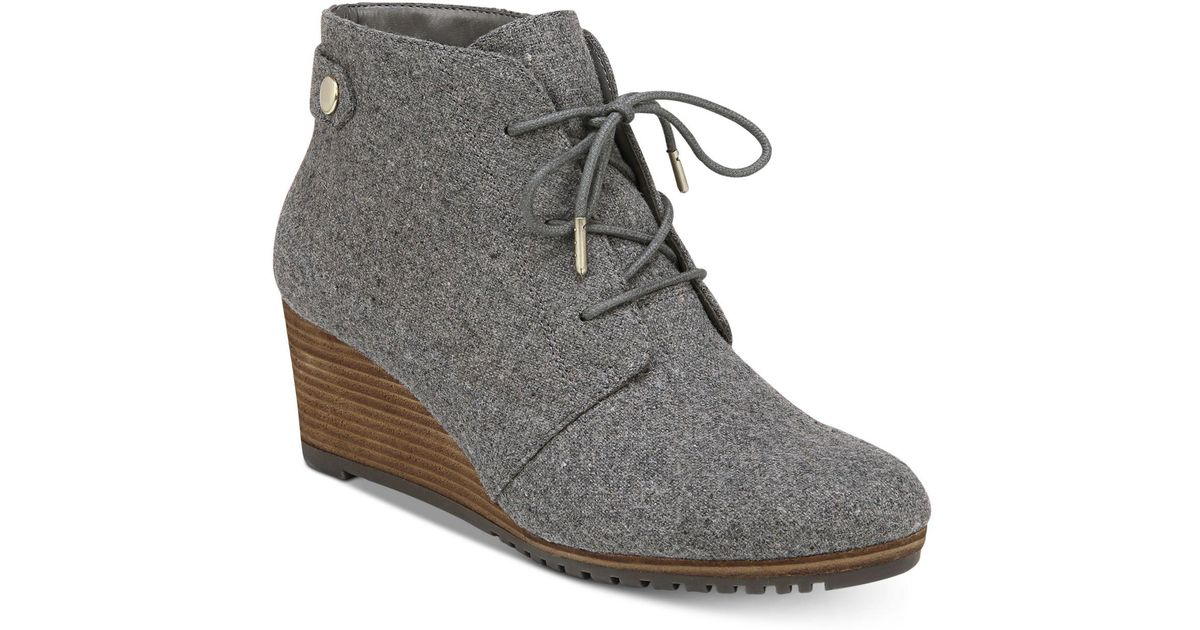 d46de81553b Lyst - Dr. Scholls Conquer Ankle Boot Mid Grey Flannel 7.5 W Us in Gray