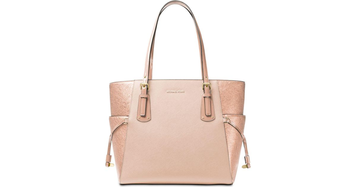 ef709d500c5f Michael Kors Voyager East West Signature Tote in Pink - Lyst