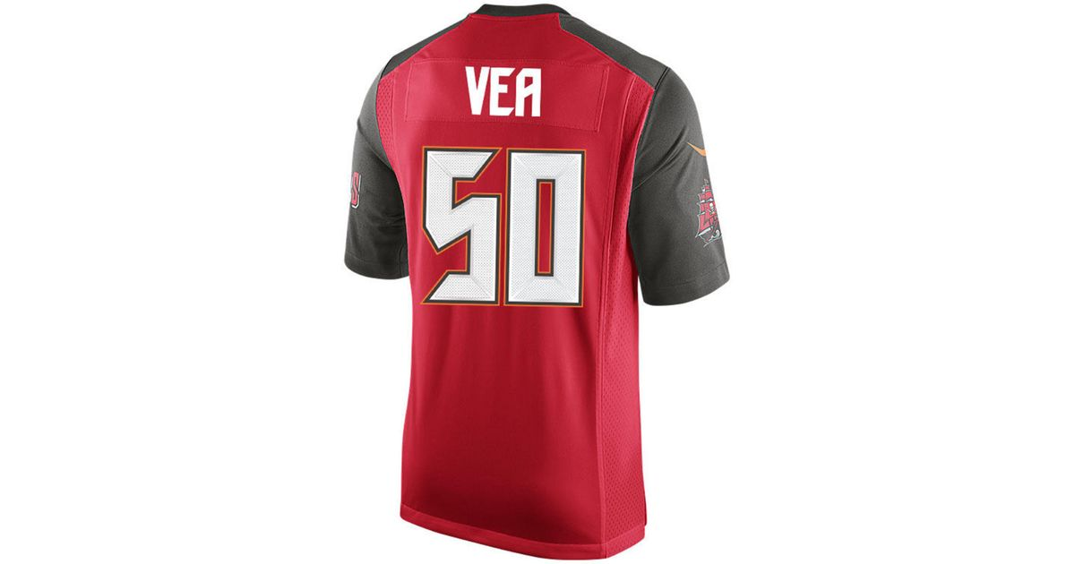 innovative design 246a1 1fe5a Nike Red Vita Vea Tampa Bay Buccaneers Game Jersey for men