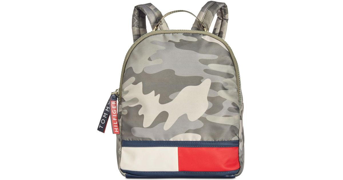 33589cce0f19 Lyst - Tommy Hilfiger Nori Camo Nylon Backpack in Green