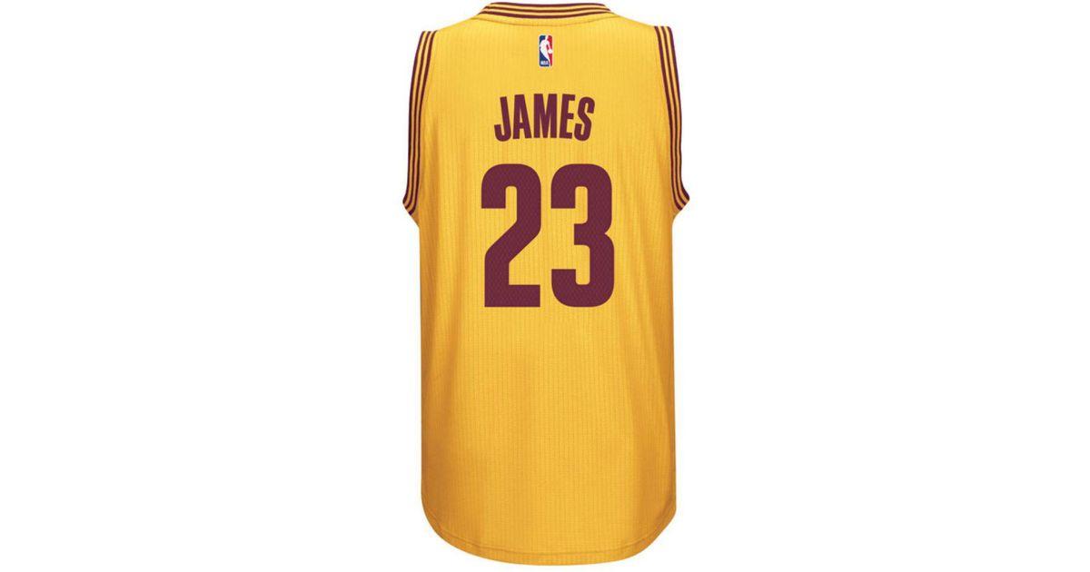 low priced 7fe5d 61a2e Adidas Originals - Yellow Men's Lebron James Cleveland Cavaliers Swingman  Jersey for Men - Lyst