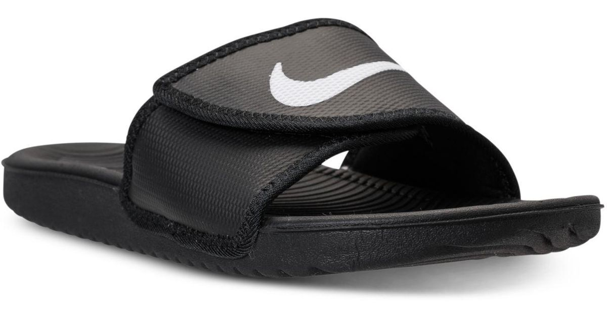 a22dfeb61979 Lyst - Nike Men s Kawa Adjustable Slide Sandals From Finish Line in Black  for Men