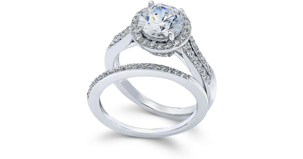 8eea67fe3 Arabella Swarovski Zirconia Bridal Set In Sterling Silver (4 Ct. T.w.) in  Metallic - Save 8% - Lyst