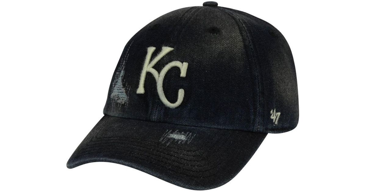 buy popular a33c7 3b10a Lyst - 47 Brand Kansas City Royals Dark Horse Clean Up Cap in Black for Men