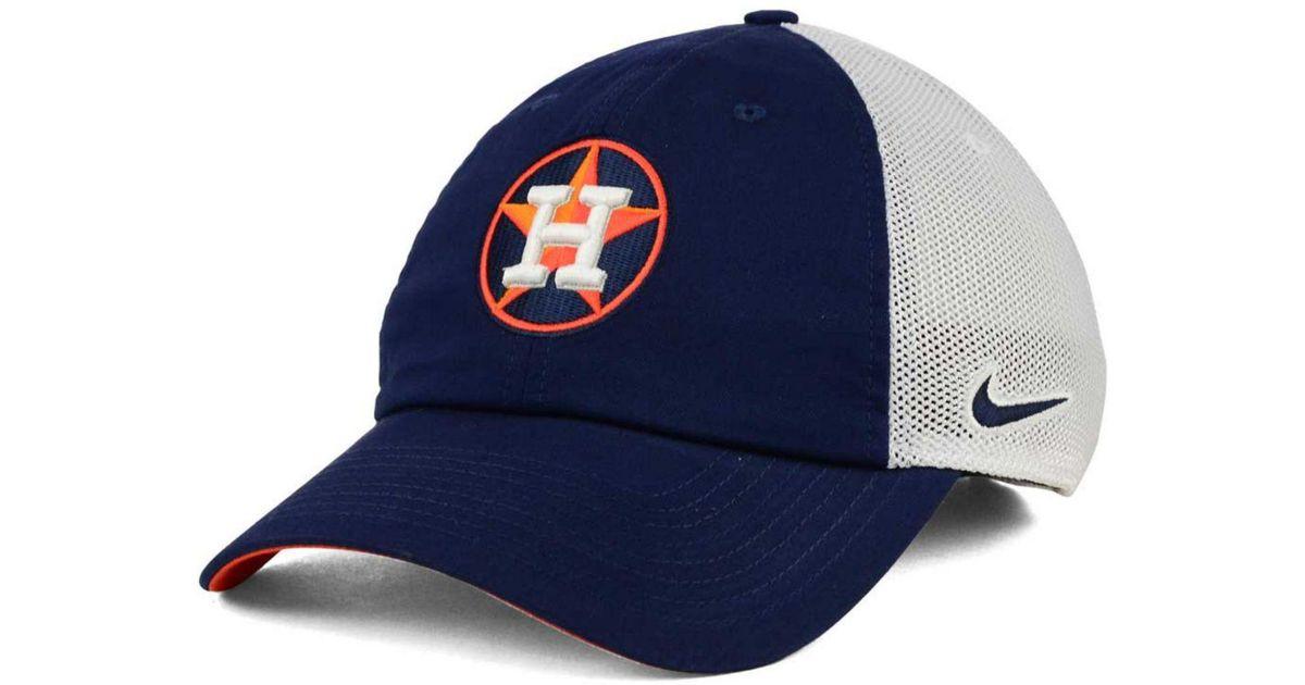 Nike Houston Astros Dri-fit Mesh Swoosh Adjustable Cap in White for Men |  Lyst