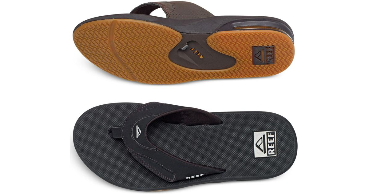 e9a576bfb7d6 Lyst Reef Fanning Sandals With Bottle Opener In Black For Men