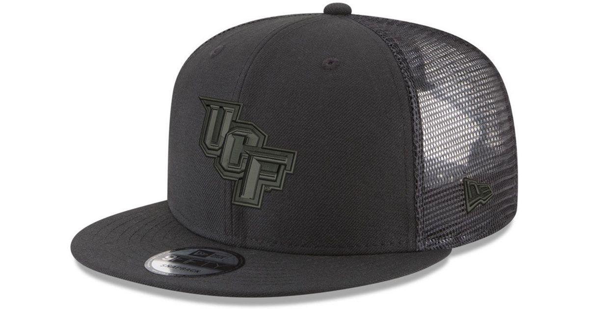 detailed look 7af6b 316ae Lyst - KTZ University Of Central Florida Knights Black On Black Meshback  Snapback Cap in Black for Men