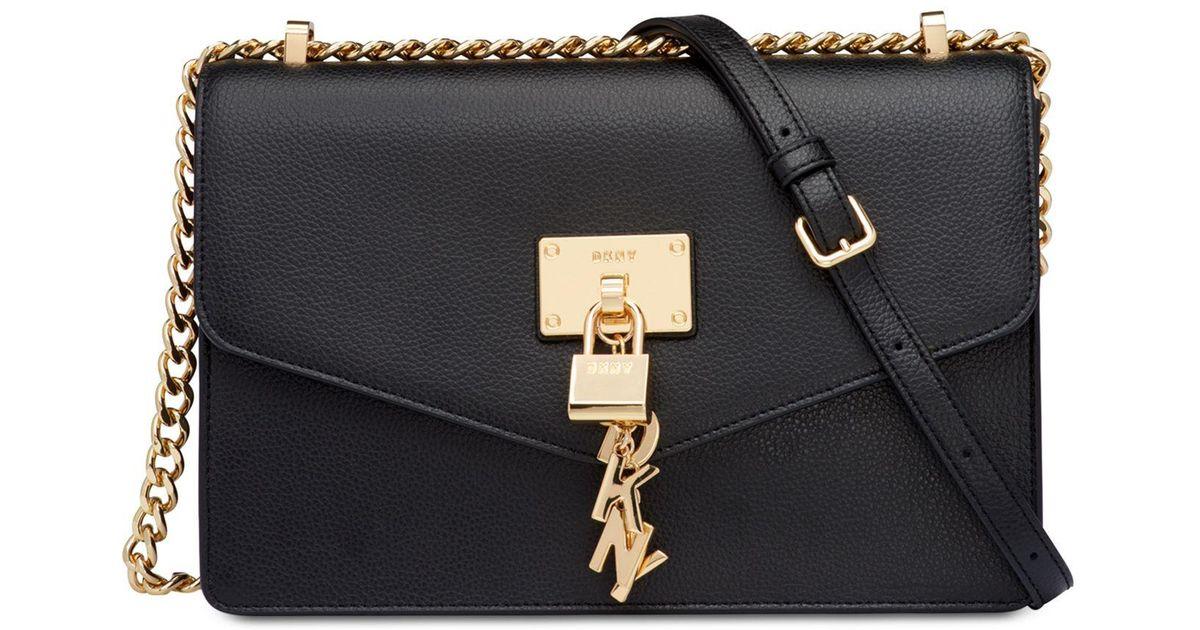 71595f93c5 Lyst - DKNY Elissa Leather Chain Strap Shoulder Bag