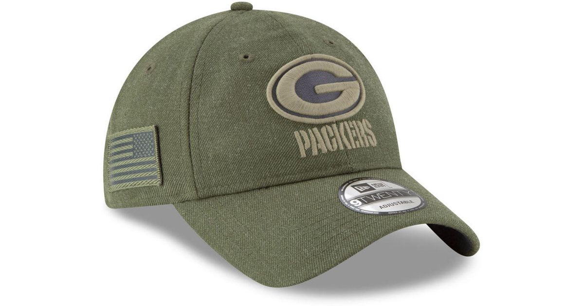 Lyst - KTZ Green Bay Packers Salute To Service 9twenty Cap in Green for Men 40ef0103520d