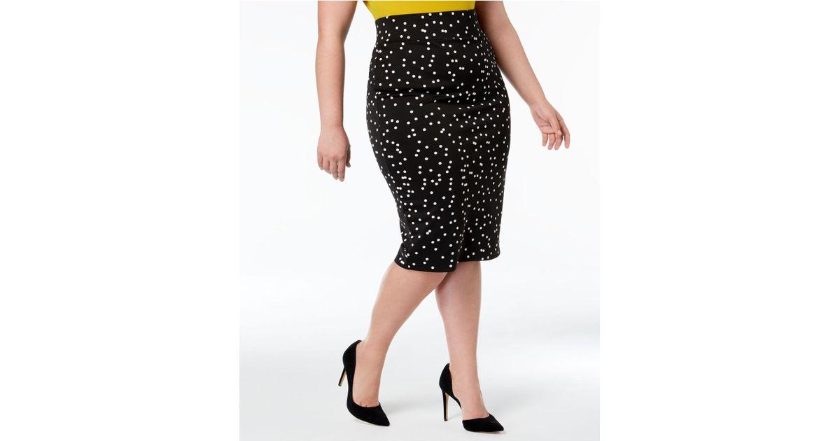 Lyst Alfani Plus Size Printed Scuba Skirt Created For Macys In