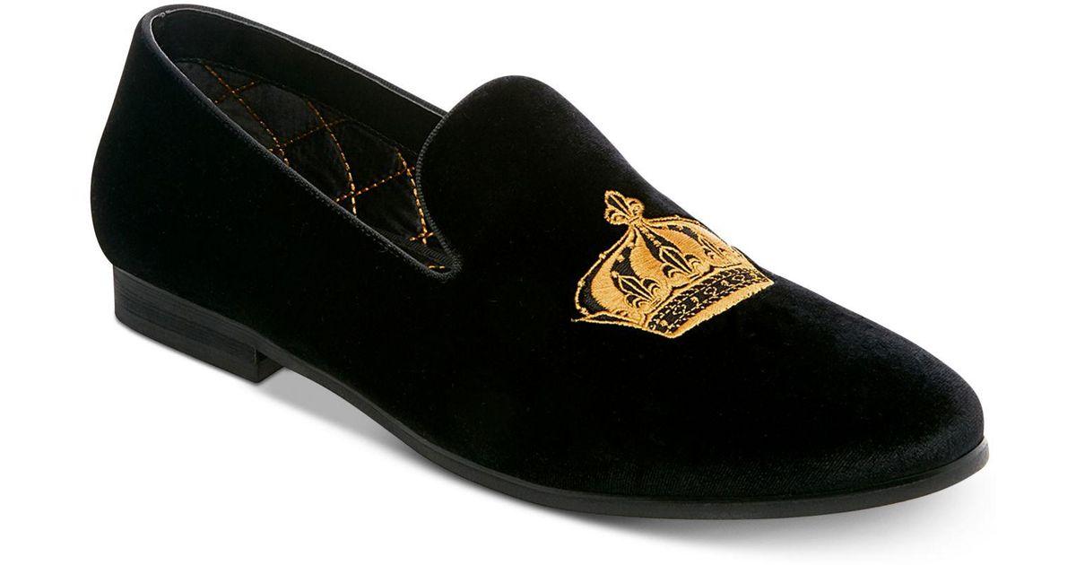 19efabbd42ae5 Steve Madden Men's Coronet Smoking Slippers in Black for Men - Lyst