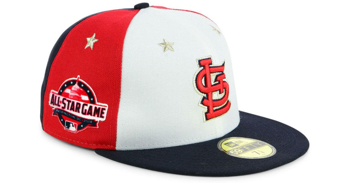 save off aabb3 6b7d7 KTZ St. Louis Cardinals All Star Game Patch 59fifty Fitted Cap 2018 for Men  - Lyst