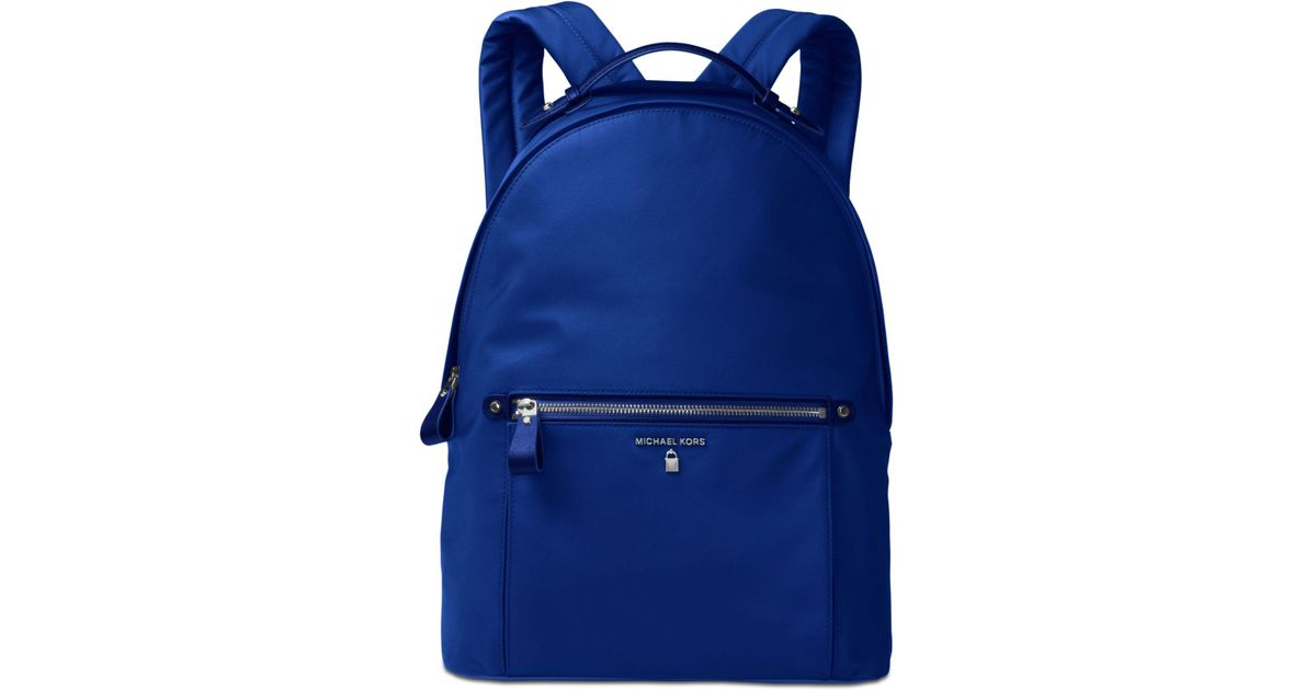 50a2f83fd0 Michael Kors Kelsey Large Backpack in Blue - Lyst