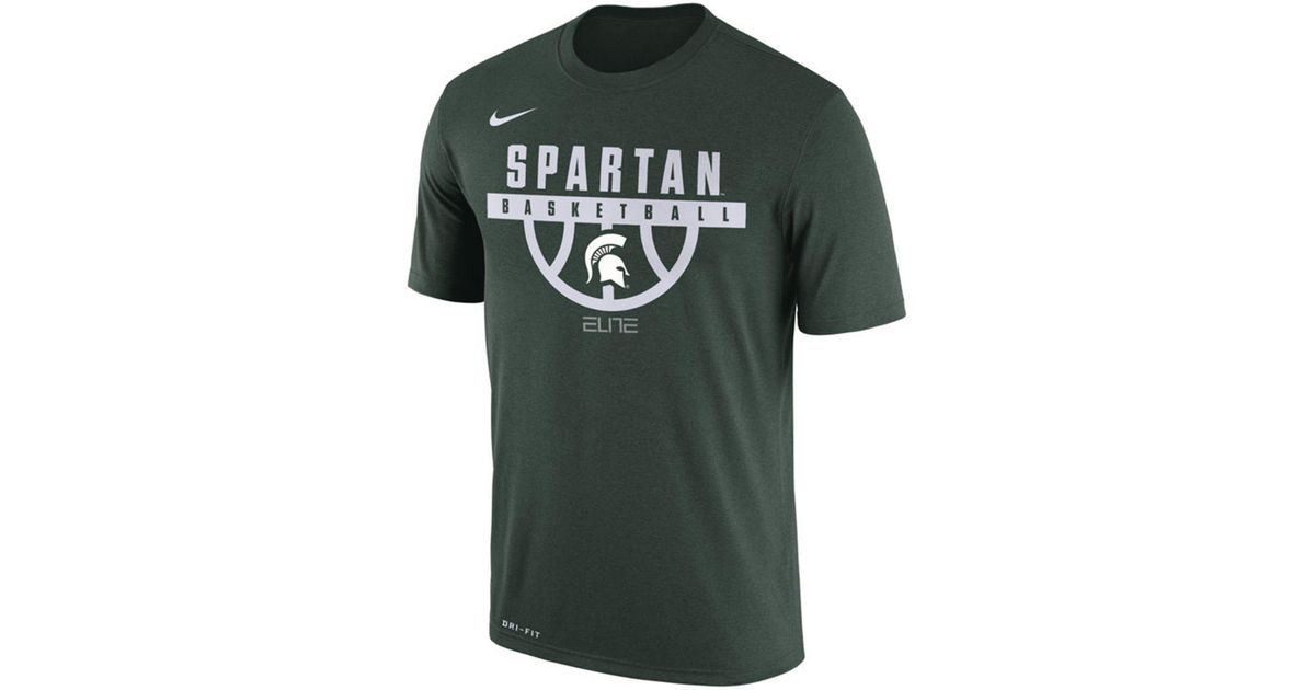new products 4c4c4 65ad6 Nike - Green Michigan State Spartans Basketball Legend T-shirt for Men -  Lyst