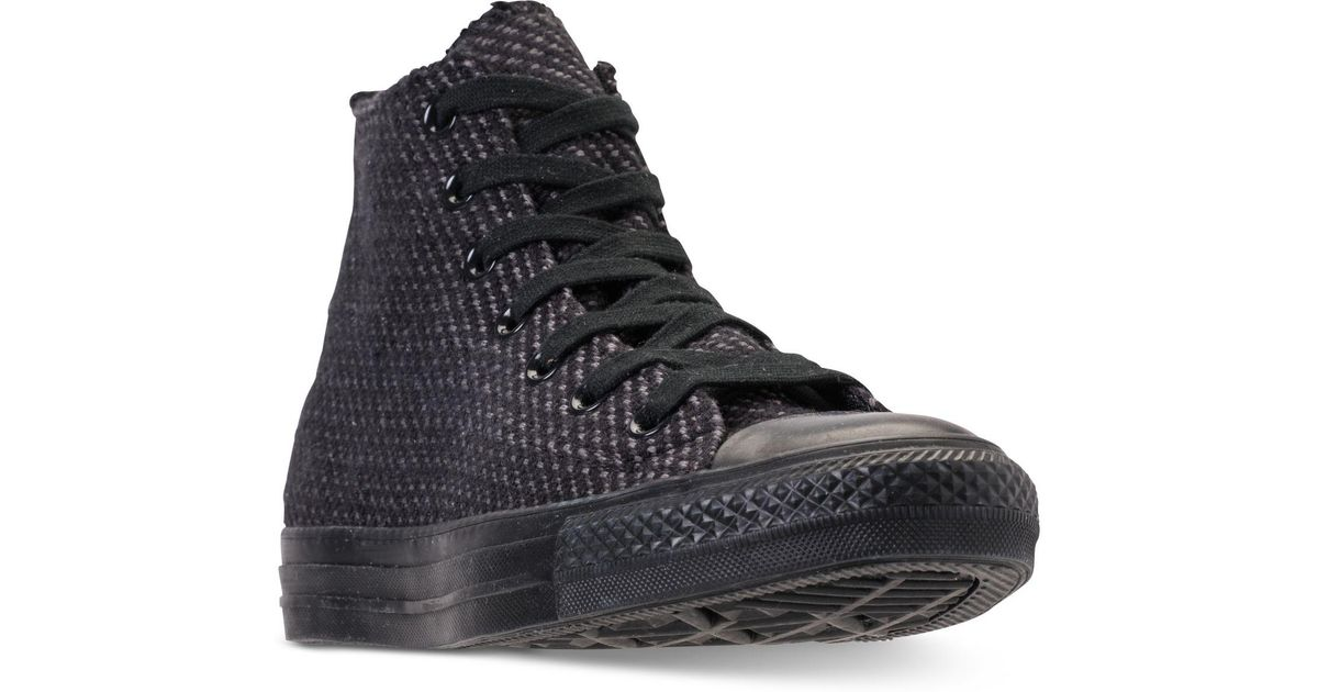 a76852f451e193 Lyst - Converse Chuck Taylor All Star Wonderland High Top Casual Sneakers  From Finish Line in Black