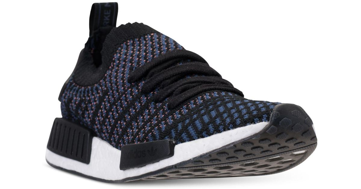 20902670131c Lyst - adidas Women s Nmd R1 Stlt Primeknit Casual Sneakers From Finish Line  in Black - Save 17%