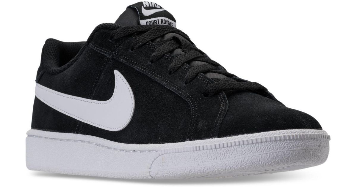 5f718a19348b Lyst - Nike Court Royale Suede Casual Sneakers From Finish Line in Black  for Men