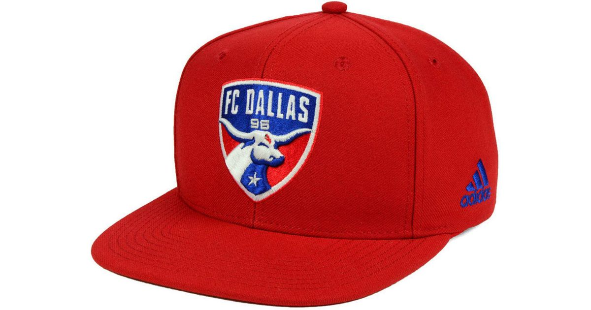 new style c870a a44ce Lyst - adidas Fc Dallas Poly Snapback Cap in Red for Men