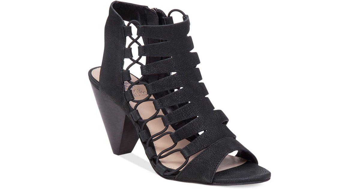 a7deb3b0de99 Lyst - Vince Camuto Eliaz Gladiator Dress Sandals in Black