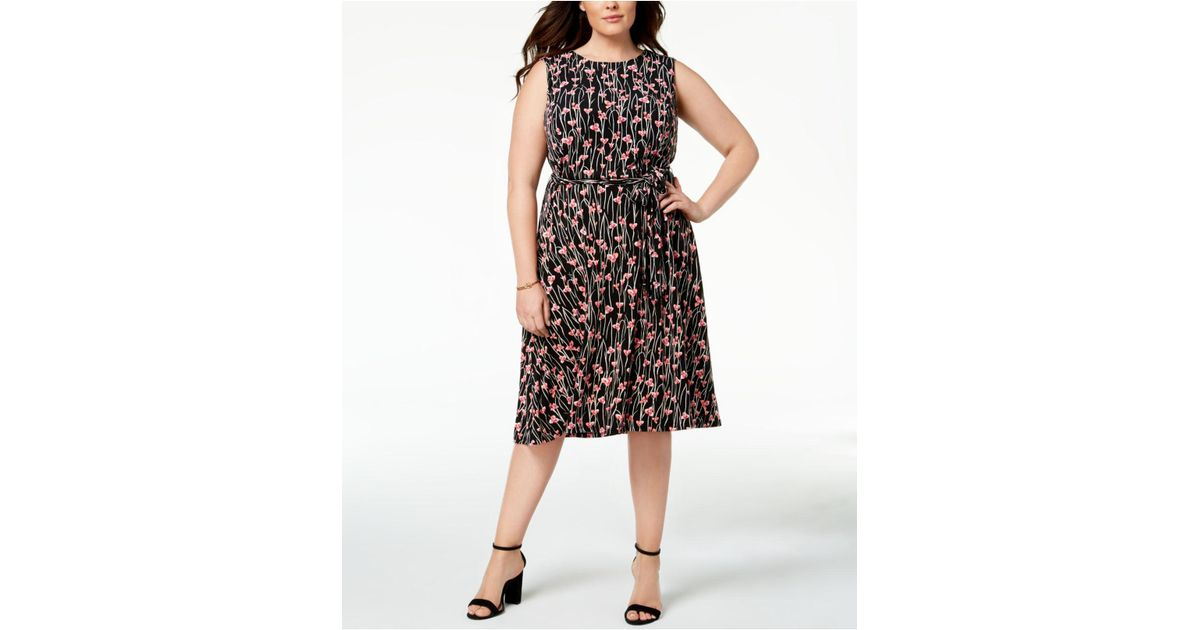 Lyst - Charter Club Plus Size Floral-print Midi Dress, Created For ...