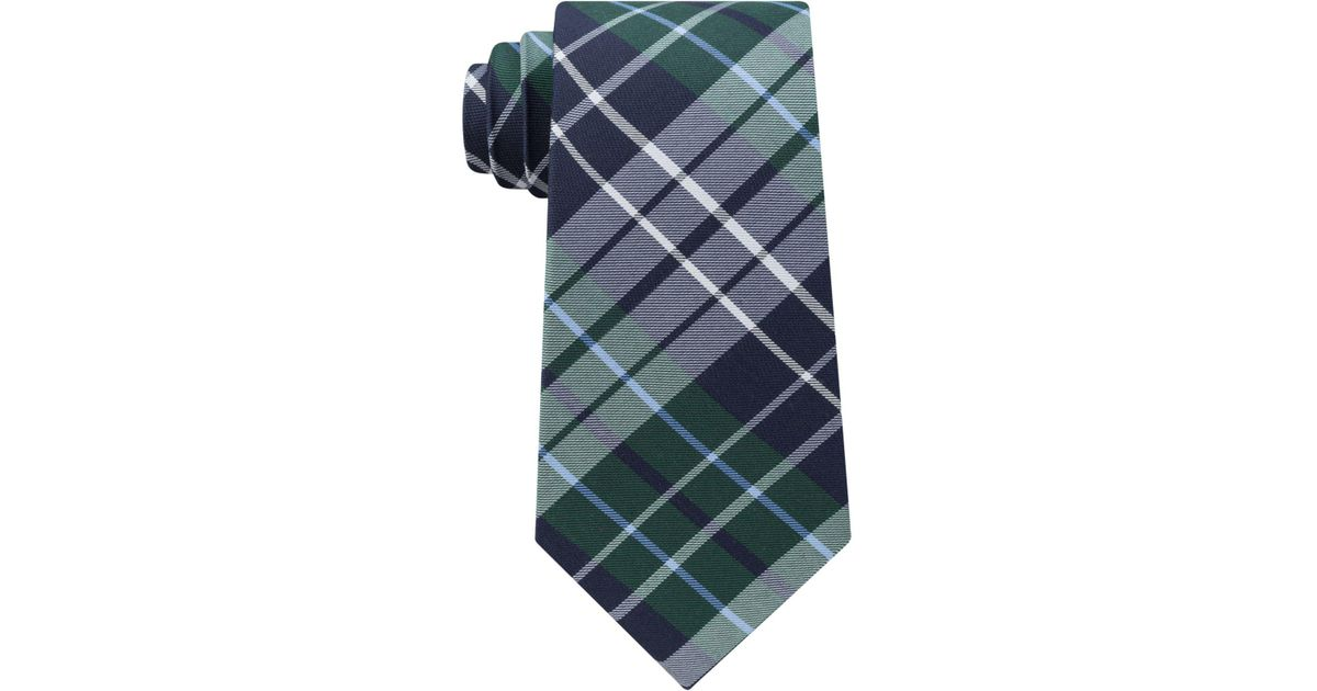 454b7d75f9ed Tommy Hilfiger Men's Exploded Check Slim Tie in Green for Men - Lyst