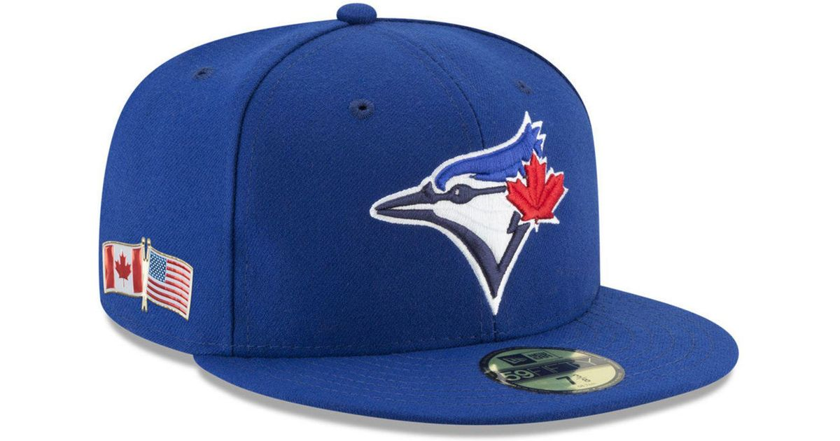 new style 887a2 0099e ... top quality lyst ktz toronto blue jays 9 11 memorial 59fifty fitted cap  in blue for