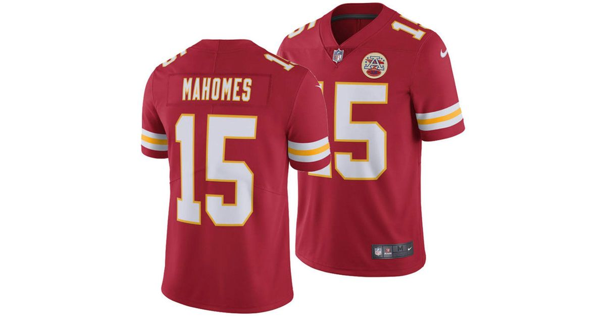 6d2d888e396 Lyst - Nike Pat Mahomes Kansas City Chiefs Vapor Untouchable Limited Jersey  in Red for Men