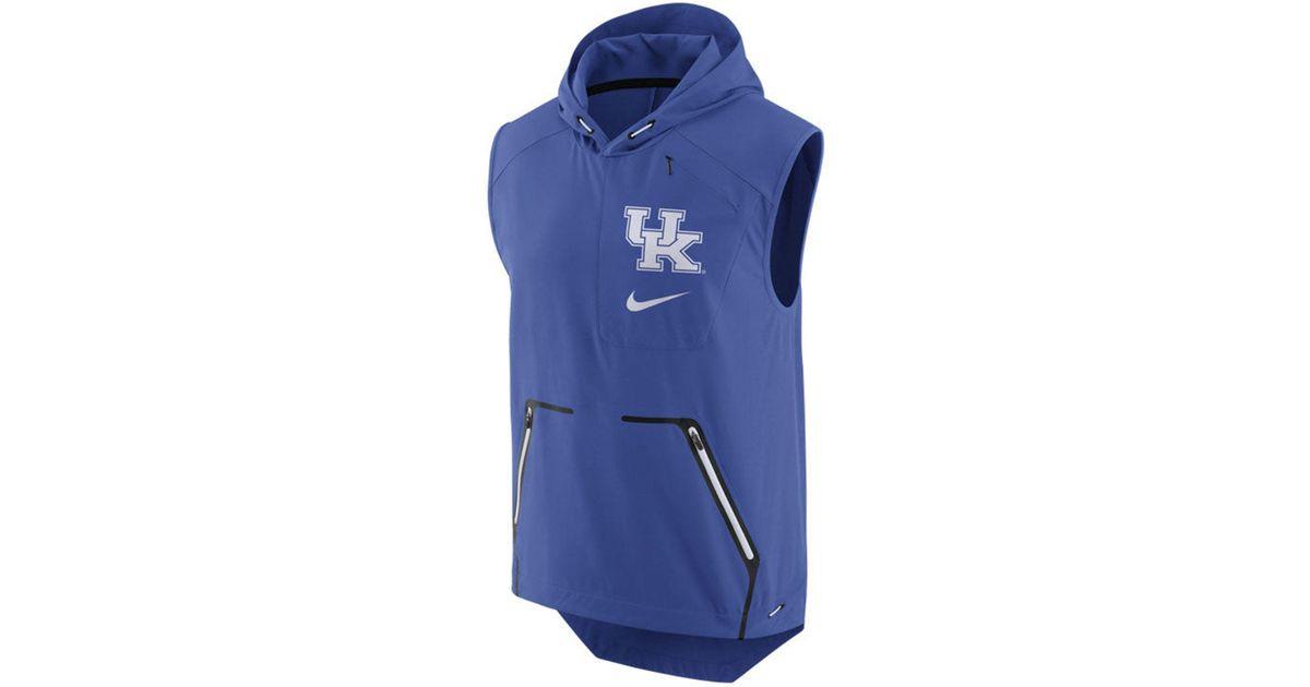 df8bdcf0bc34 Lyst - Nike Men s Alpha Fly Rush Hooded Vest in Blue for Men