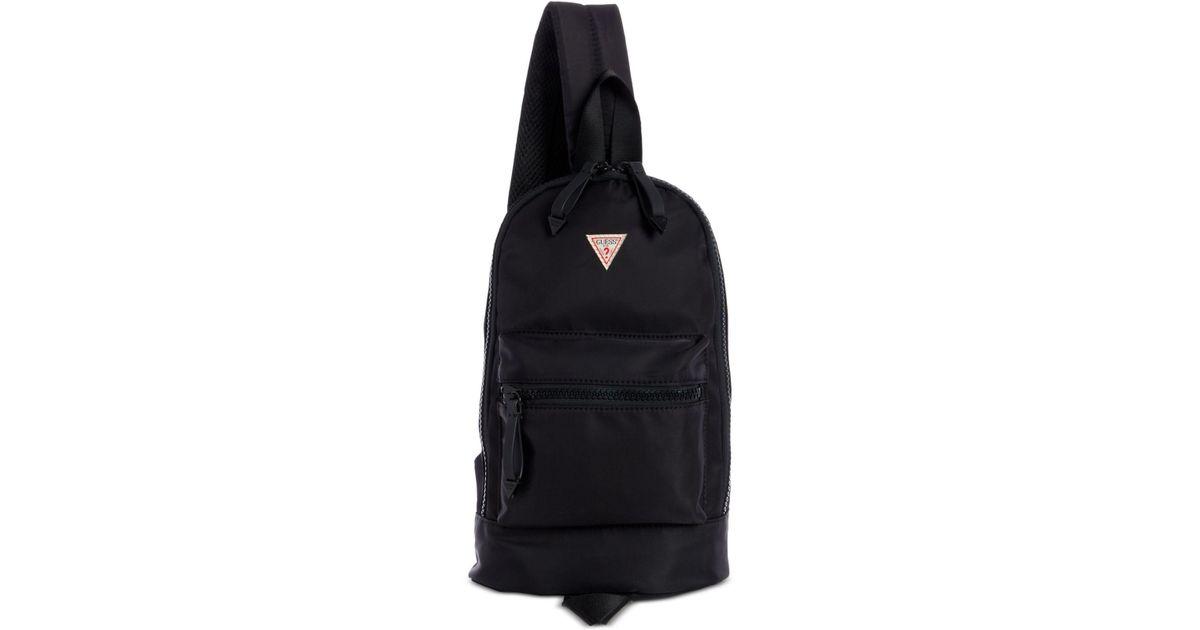 Lyst - Guess Original Sling Backpack in Black 8a0e35094e67e