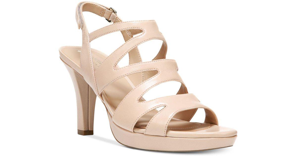 e0438f05797a Lyst - Naturalizer Pressley Platform Dress Sandal - Save 10.112359550561791%