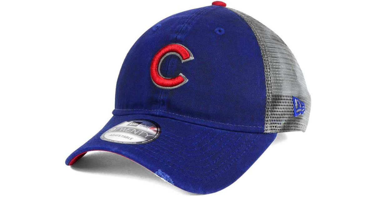 5a0c9d867c0 Lyst - Ktz Chicago Cubs Rustic Trucker 9twenty Snapback Cap in Blue for Men