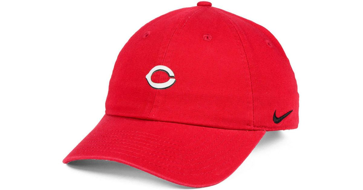 best authentic 7d114 8c79e ... buy lyst nike cincinnati reds micro cap in red for men dc5ee 7eb59