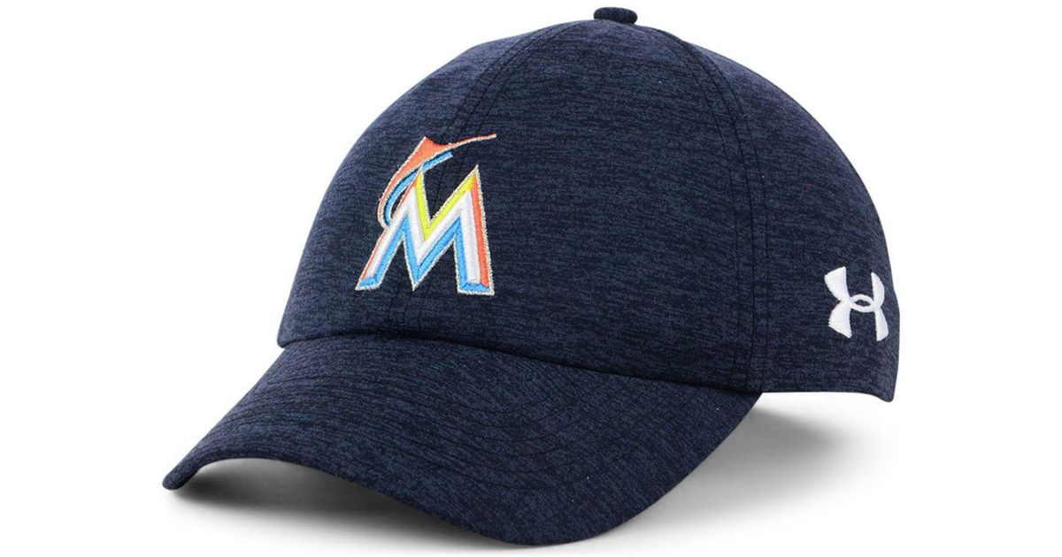 low priced b3186 696ce ... hot lyst under armour miami marlins renegade twist cap in blue for men  0bff2 f56db