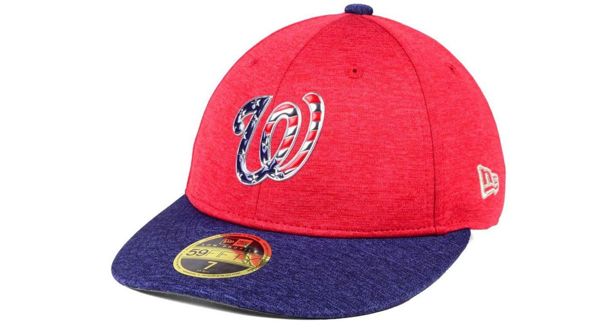 new concept 843c4 adf88 Lyst - KTZ Low Profile Stars   Stripes 59fifty Cap in Red for Men