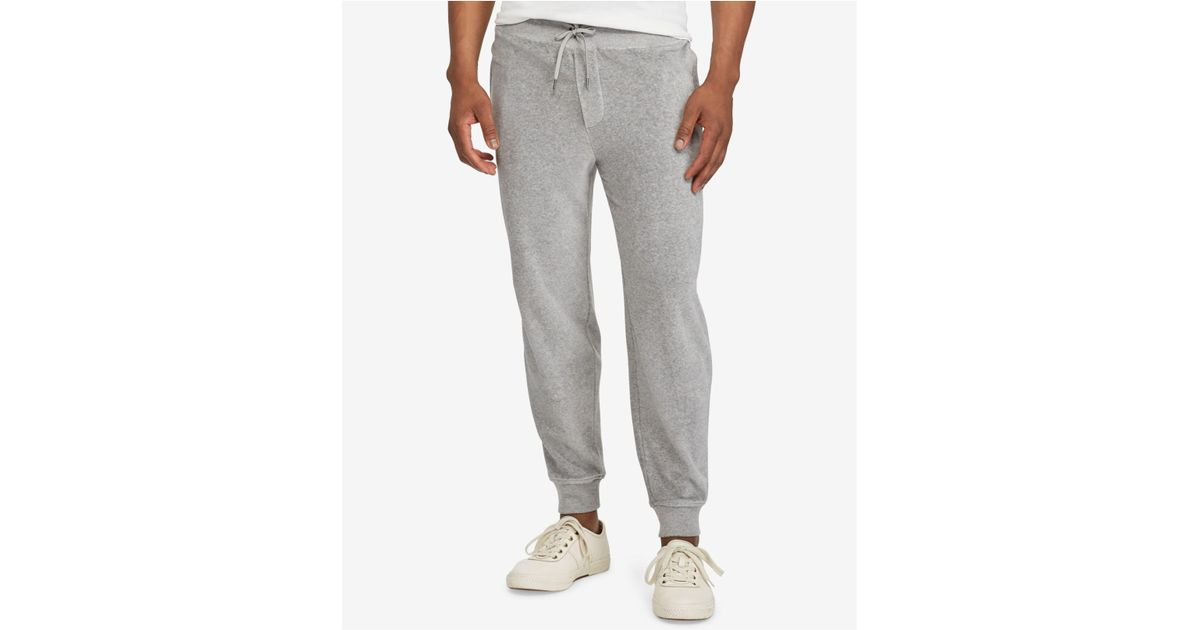285082d2c Polo Ralph Lauren Men s Velour Jogger Pants in Gray for Men - Lyst