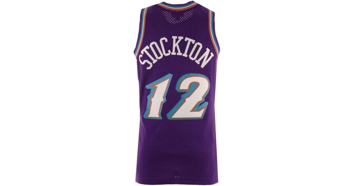 224f1f77cafa Lyst - Mitchell   Ness John Stockton Utah Jazz Hardwood Classic Swingman  Jersey in Purple for Men