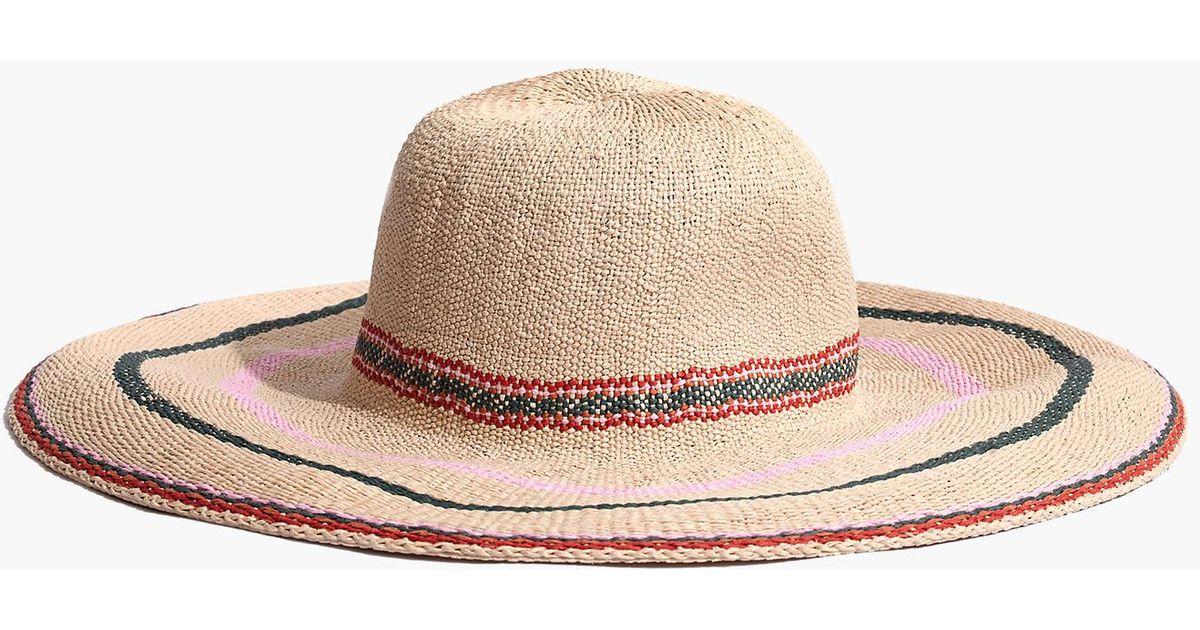 ee06b56075a8 Madewell X Biltmore® Tulum Striped Straw Hat - Lyst