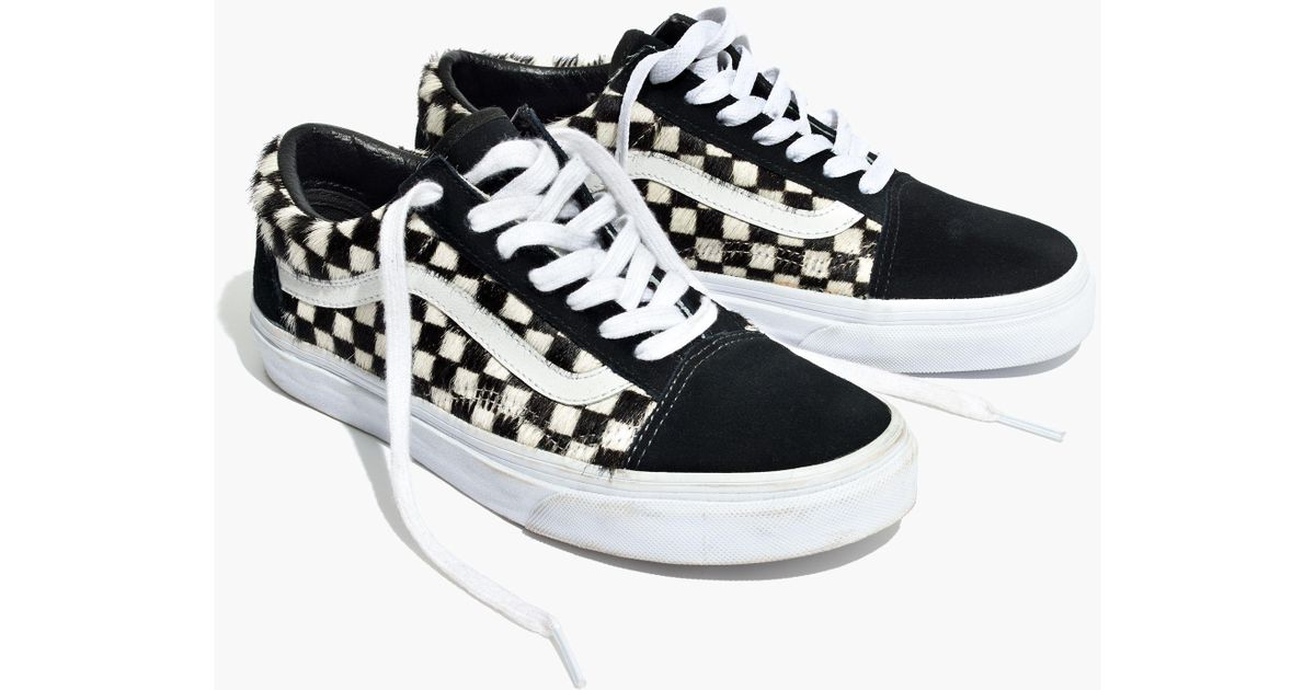 9572e658be Lyst - Vans Madewell X ® Unisex Old Skool Lace-up Sneakers In Checked Calf  Hair