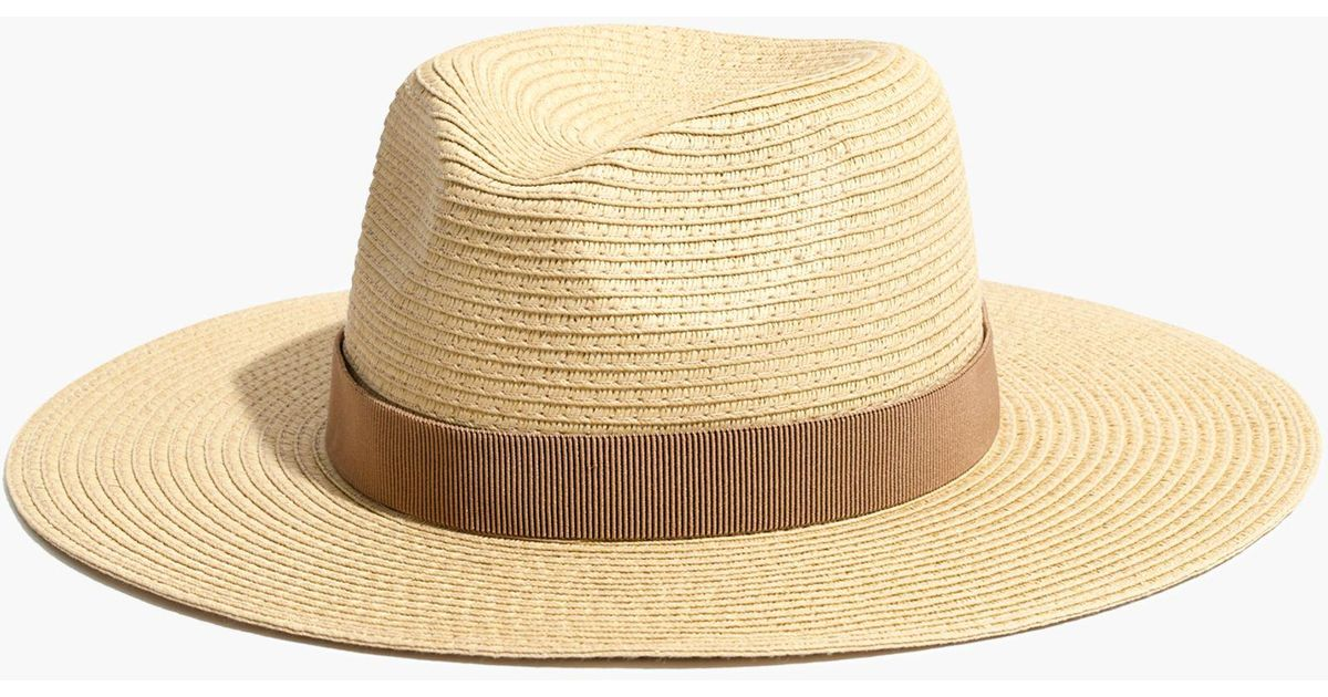 6726ea82db5 Madewell Packable Mesa Straw Hat in Natural - Lyst