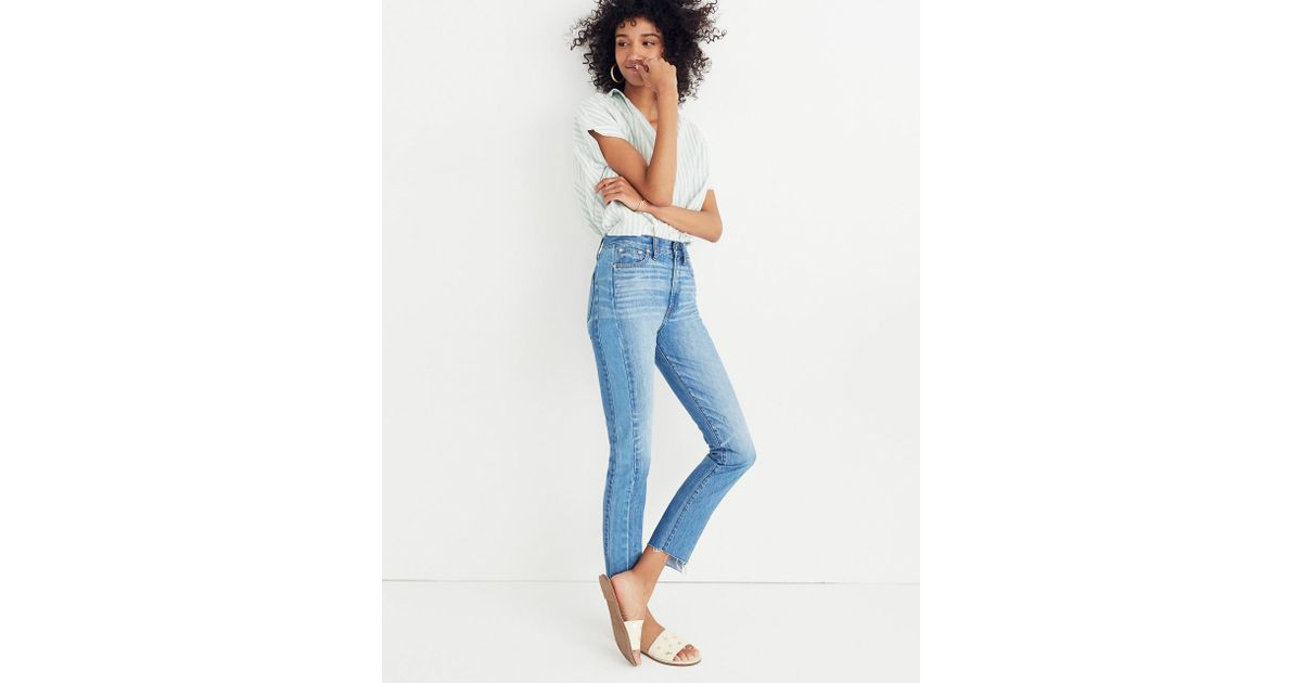 3aea29f29a76 Lyst - Madewell The Perfect Summer Jean  Pieced Edition in Blue