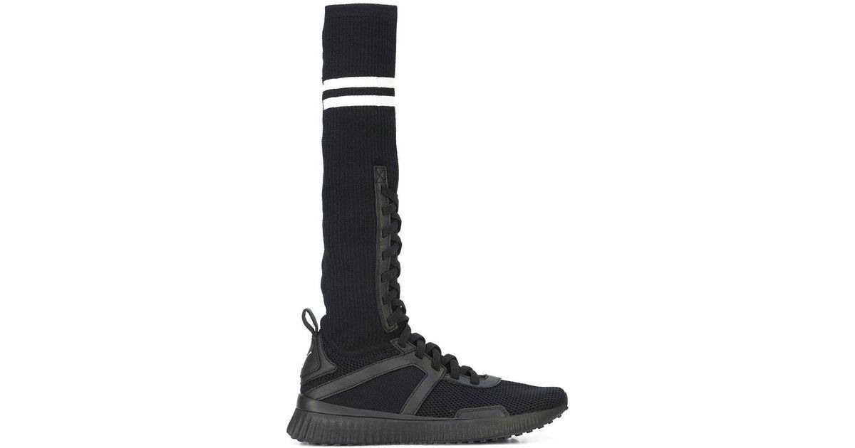 Lyst - PUMA Women s Black Fenty Knit Trainer Hi in Black 2a2cc5fb7