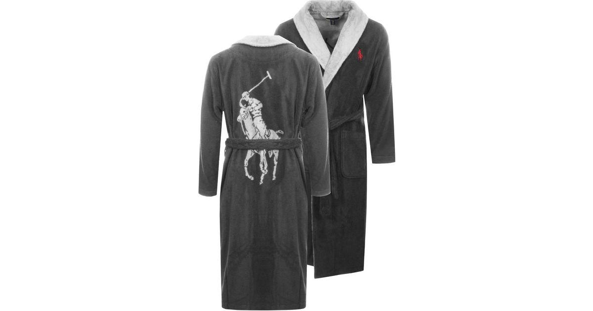 Lyst - Ralph Lauren Shawl Dressing Gown Grey in Gray for Men