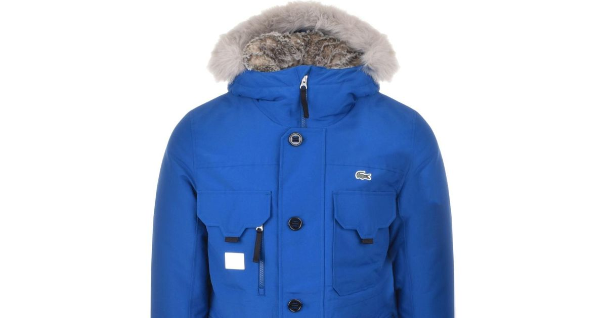 acheter populaire a7a8d 1e993 Lacoste L!ive Hooded Parka Jacket Blue for men
