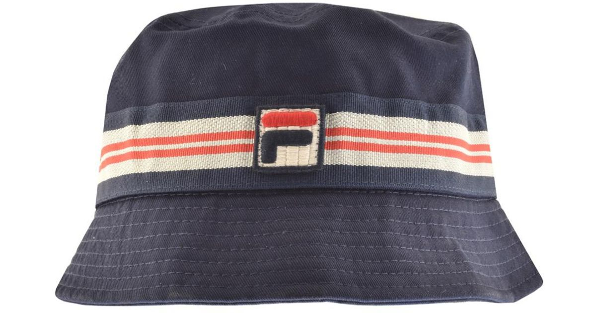 68d188c2 Fila Vintage Casper Bucket Hat Navy in Blue for Men - Lyst