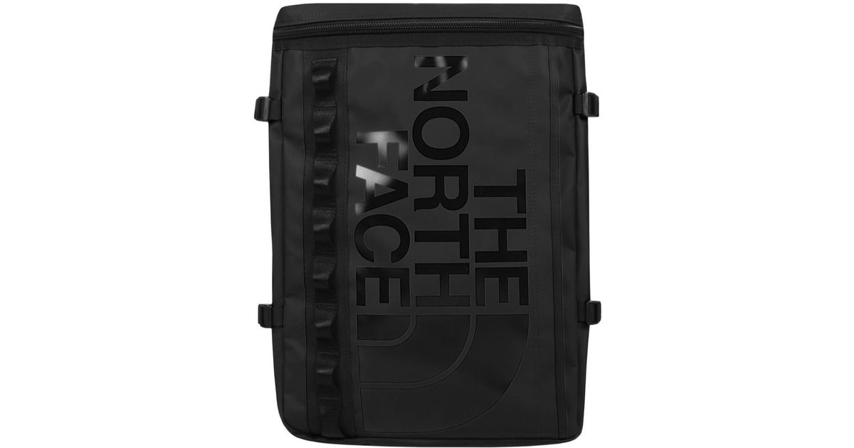 the north face Black Base Camp Fuse Box Backpack Black lyst the north face base camp fuse box backpack black in black for