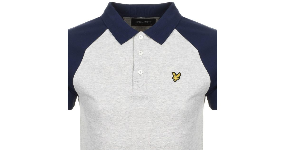8db897691 Lyle & Scott Lyle And Scott Raglan Polo T Shirt Grey in Gray for Men - Lyst