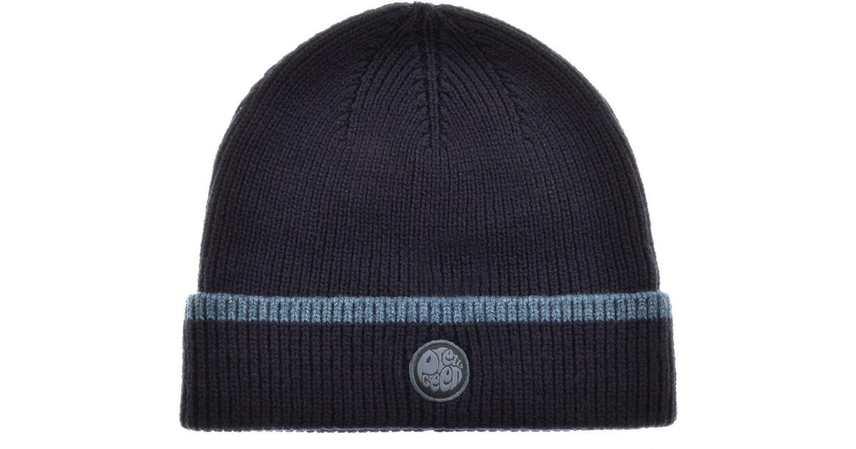 c5cdd5c8fa0 Lyst - Pretty Green Beanie Hat And Scarf Gift Set Navy in Blue for Men