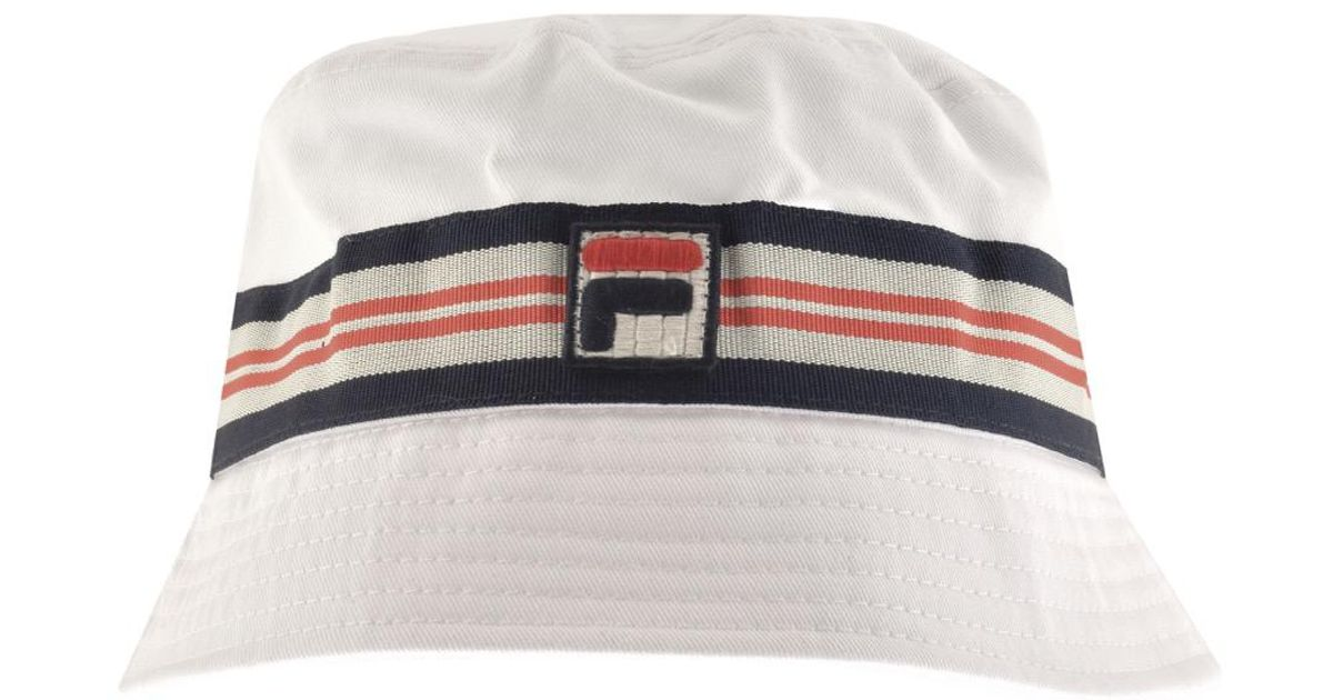 cfaf5d46 Lyst - Fila Vintage Casper Bucket Hat White in White for Men